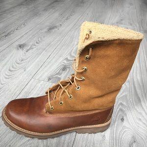 Timberland Teddy Fleece Waterproof Lace Up Boots 5